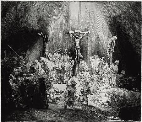 TUNE IN 68: Römerbrief 5,8 - Die drei Kreuze. Radierung von Rembrandt, 1653