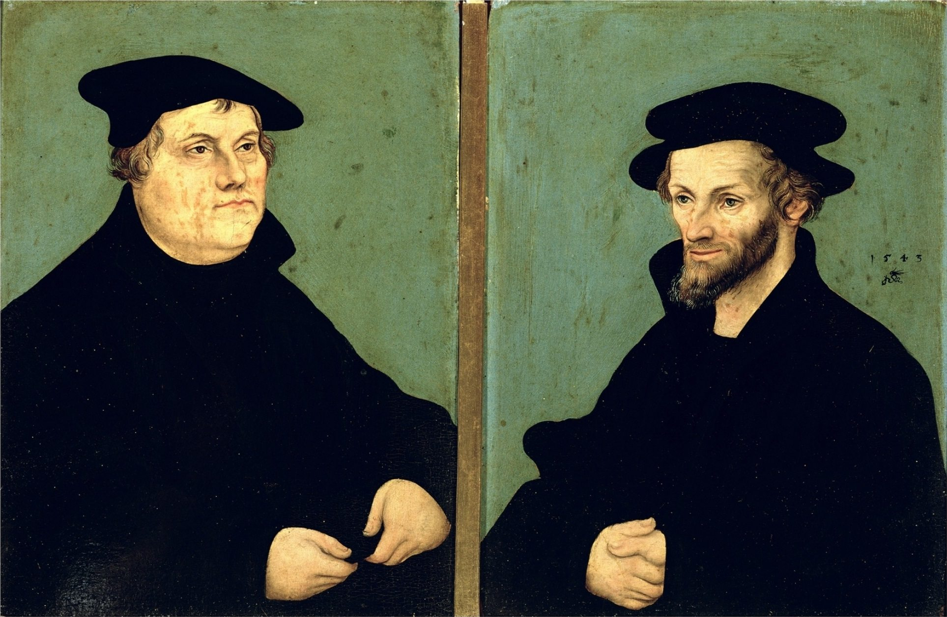 Martin Luther and Philipp Melanchton by Lucas Cranach d.Ä.